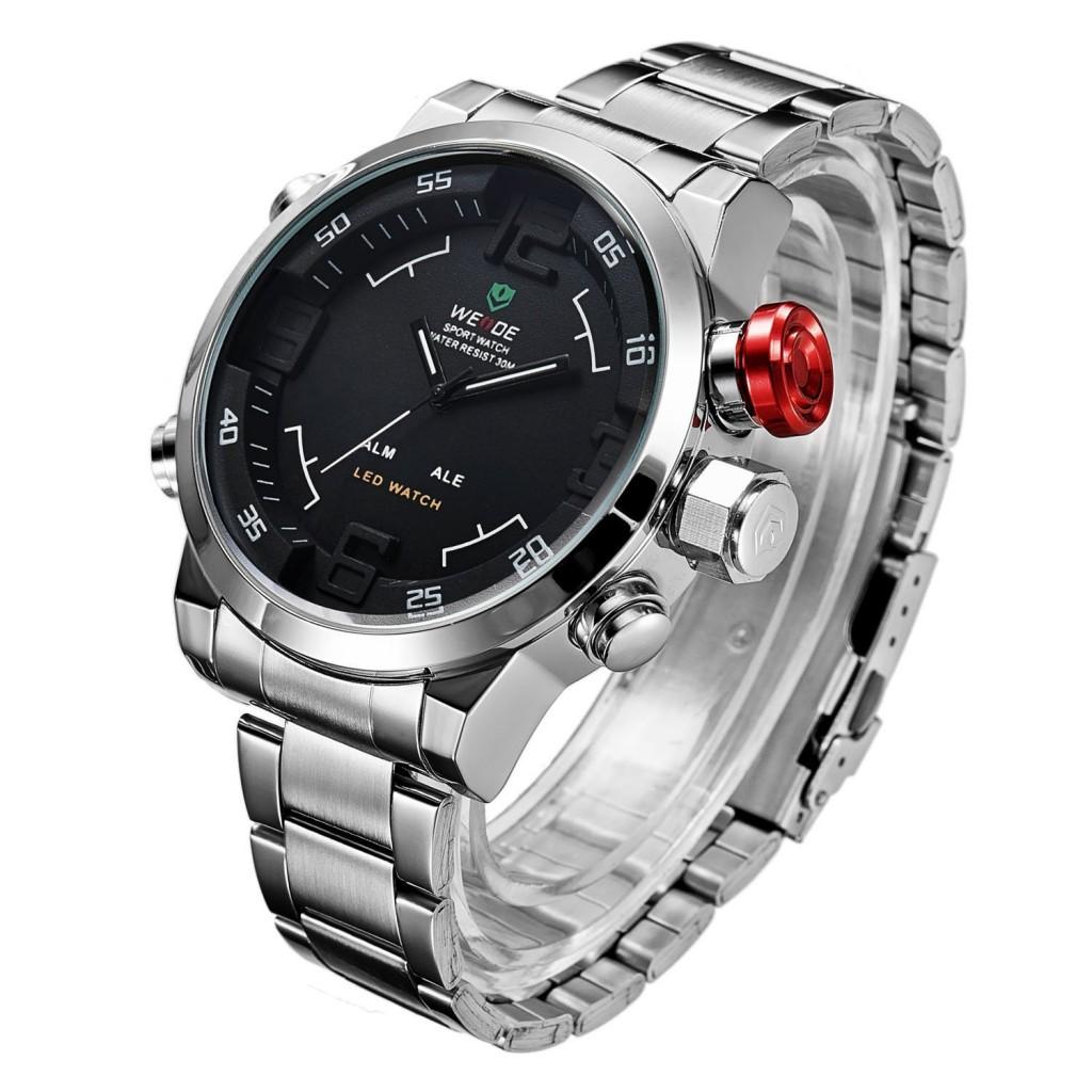 b78ee776f ... Pánské hodinky Weide Hard - Stříbrno-černé + poštovné jen za 1 Kč ...