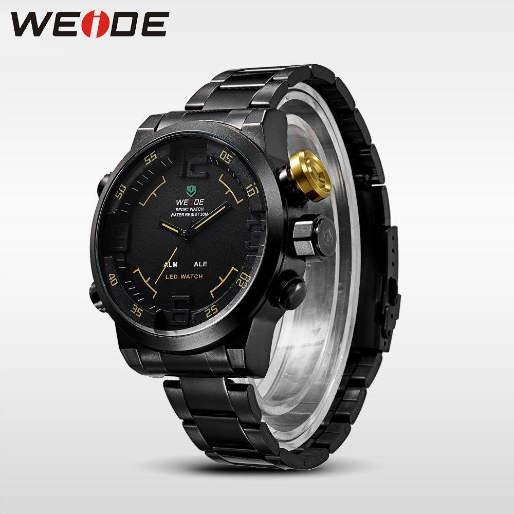 6102ac99d ... Pánské hodinky Weide Hard - Černo-žluté + poštovné jen za 1 Kč ...