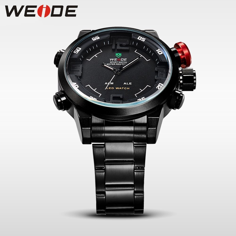 19b0e3291 ... Pánské hodinky Weide Hard - Černo-bílé + poštovné jen za 1 Kč ...