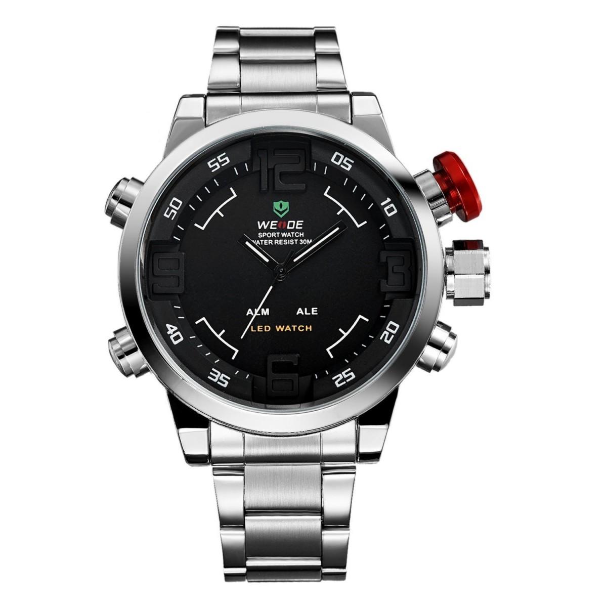 3f8e07507 Pánské hodinky Weide Hard - Stříbrno-černé + poštovné jen za 1 Kč ...