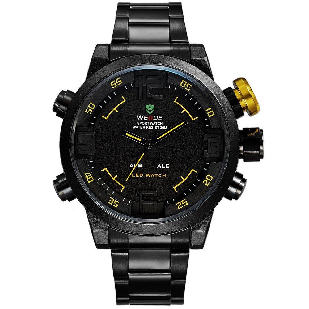 772132c88 Pánské hodinky Weide Hard - Černo-žluté + poštovné jen za 1 Kč ...
